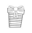gift box present icon vector image vector image