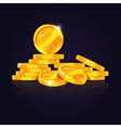 Gold coins stack vector image vector image