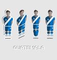Guatemala Soccer Team Sportswear Template vector image vector image