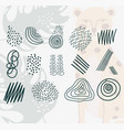 hand drawn contemporary trendy print collage vector image