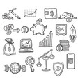 hand drawn doodle bitcoin icons set vector image