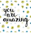 Handwritten inscription You are amazing vector image vector image