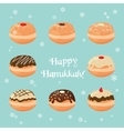 Hanukkah doughnut Traditional jewish food vector image vector image