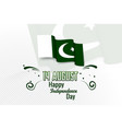 happy independence day pakistan 14 august vector image