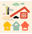 Houses and Cars Symbols Set vector image vector image