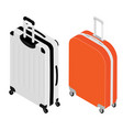 isometric travel suitcase collection vector image vector image