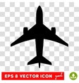 Jet Plane Eps Icon vector image