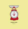 kitchen scales cartoon and hand vector image