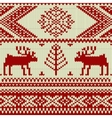 Knitted swatch with deers and snowflakes pattern vector image vector image