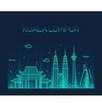 Kuala Lumpur Trendy line art vector image