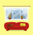 living room cozy interior vector image vector image