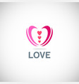 love valentine logo vector image vector image