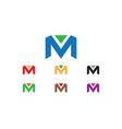 m letter logo vector image vector image