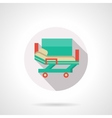 Medical stretcher bed flat color icon vector image