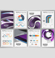 modern business infographics and brochures vector image vector image