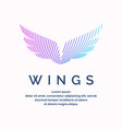 modern colored wings in a futuristic style vector image vector image