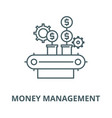 money management line icon linear concept vector image vector image