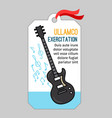 music tag with guitar vector image