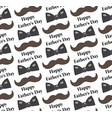 mustache bow tie seamless patterns father s day vector image vector image
