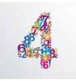 number four from numbers vector image