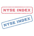 nyse index textile stamps vector image vector image