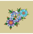 old school tattoo symbols vector image vector image