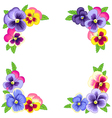 pansy corners frame vector image vector image