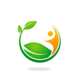 plant ecology people logo vector image vector image