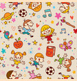 playful happy kids fun seamless pattern vector image vector image