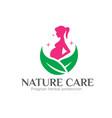 pregnant care nature logo designs simple modern vector image