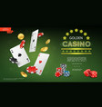 realistic casino composition vector image