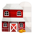 red barn and white silo vector image vector image