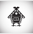 russian fairytales house on white background vector image vector image