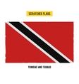 scratched flag trinidad and tobago vector image