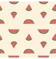 Seamless of watermelon vector image vector image