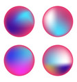 set holographic circles vector image