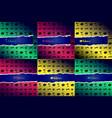 set of halloween background vector image vector image