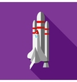 Space shuttle launch icon flat style vector image vector image