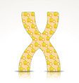The letter X of the alphabet made of Ximenia vector image vector image