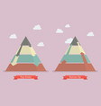 top down and bottom up pyramid business strategy vector image