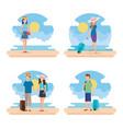 travel people on beach design vector image