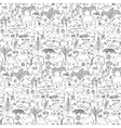 Tropic Animals Seamless Pattern vector image