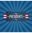 Vintage Banner with Happy Presidents Day Text vector image vector image