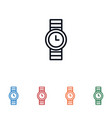 watch icon isolated on white background watch vector image vector image