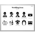 wedding icons solid pack vector image