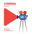 movie cinema poster design vector image