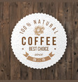 round coffee emblem with type design vector image