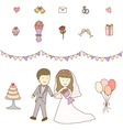 Bride and Groom Wedding vector image