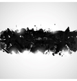 Abstract background with black paint splashes vector image