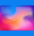 abstract colorful blurred background with smooth vector image vector image